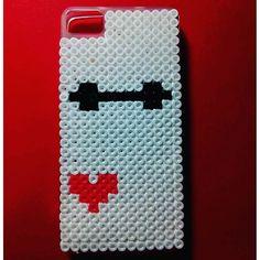 Baymax phone case hama beads by creacionesquinn