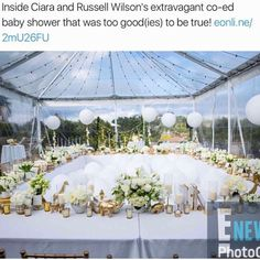 The Wilsons all white baby shower......Close family and friends celebrated with @ciara the glowing mom to be. We notice Kim K wasn't in attendance, wonder what happened with that hollywood friendship? #ciara #ciarawilson #blacklove #blackgirlsrock #younghollywood #nflwives #kuwtk #dangerusswilson #russellwilson #blabbermouthmusic #blabbermouthtv #blabbermouth #blabs #bbt