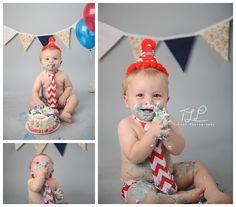Cake Smash Birthday Boy #albanycakesmashphotographer #cakesmash www.tuleafphotography.com