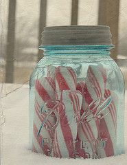 aqua peppermint jar