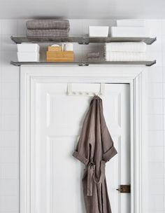 Bathroom Wall Storage Ikea Small Spaces 46 Ideas For 2019 Bathroom Towel Storage, Bathroom Wall Shelves, Small Bathroom Organization, Bathroom Towels, Bathroom Ideas, Bathroom Closet, Storage For Small Bathroom, Ikea Towels, Bathroom Gray