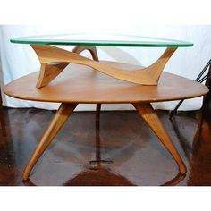 Image of Mid-Century Danish Pearsall Style Table