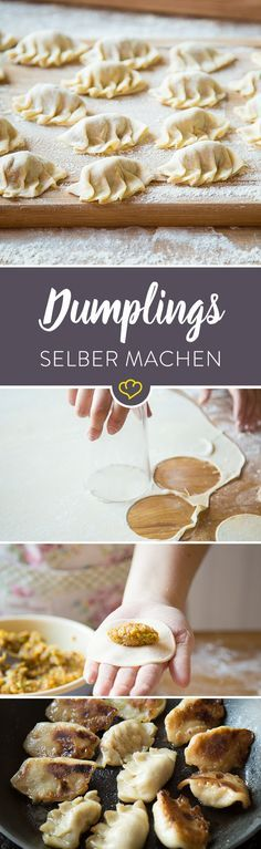 Klassisch chinesische Dumplings – So machst du Jiaozi selber Learn how to do Jiaozi yourself. With our tips and tricks and a bit of tact you will be guaranteed the Chinese dumplings guaranteed. Noodle Recipes, Pork Recipes, Asian Recipes, Vegetarian Recipes, French Recipes, Dumplings Chinois, Homemade Chinese Food, Appetizer Recipes, Dessert Recipes