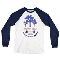 Long Sleeve Baseball T-Shirt Vintage Cool ThrowBack Joshua California National Parks, 30 And Single, Retro Fashion, Baseball, Cool Stuff, Tees, Long Sleeve, Mens Tops, T Shirt