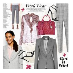 Work Wear: Prince of Wales Check by malussieversii on Polyvore featuring MARCOBOLOGNA, Jack Wills, Reiss, Temperley London, Bally, Giuseppe Zanotti and Alexander McQueen