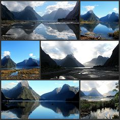 """""""Moods of Milford"""", Fjiordland, NZ. (End of series of 7 photos)."""