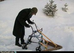 Winter Oldsters Have to Get Around Somehow!