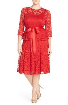 Chetta B 'Magic' Mock Two-Piece Lace Dress (Plus Size) available at #Nordstrom