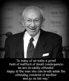 Love Pres. Hinckley.  Good reminder