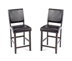 Imagio Home LF-BS-X280L-CHO-K24 Lofts Upholstered Parsons Barstool w/PU cushion back and seat, Set of 2