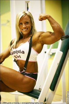 Female bodybuilder Cindy Phillips... I think she is so pretty! Perfect combo of muscle and sensuality