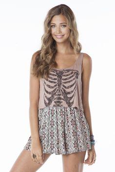 [$15.00] Mirella Skeleton Tank #BrandyMelville