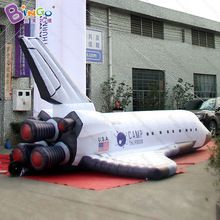 8 Meters Length Giant Inflatable Aerospace Plane Inflatable Spaceship Rocket Sign Inflatable Space Shuttle Spa Giant Inflatable Outer Space Party Space Party