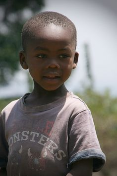 Young Tanzanian boy, Kilimanjaro, Tanzania, Africa, by Tracy Sparkes