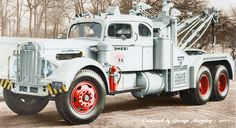 1952 White Tow Truck WC28 40Ton Wrecker with 850 Holmes Service Unit Integral Sleepr
