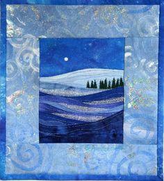 winter moonlight ........... simple landscape