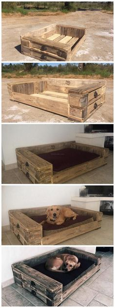 Pallet Dog bed - Tap the pin for the most adorable pawtastic fur baby apparel! Youll love the dog clothes and cat clothes! #dogbed