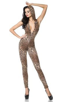 18202 Leo Overall von Saresia Catsuit, Cheetah Print, Clubwear, Jumpsuits For Women, Stretch Fabric, Summer Outfits, Rompers, Stylish, Lady