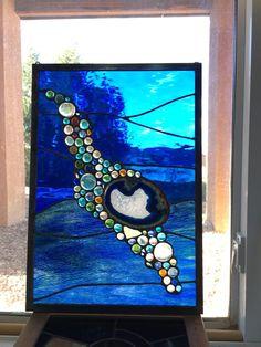 Teinté de panneau de fenêtre en verre : sous la mer
