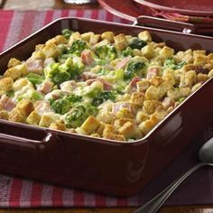 Broccoli Ham Bake Recipe | Taste of Home Recipes - made this for lunch