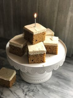 Pumpkin Cake with Brown Butter Frosting - Le Red Oven Square Cake Pans, Square Cakes, Pumpkin Pie Spice, Pumpkin Puree, Stick Of Butter, Melted Butter, Red Ovens, Brown Butter Frosting, How To Make Brown