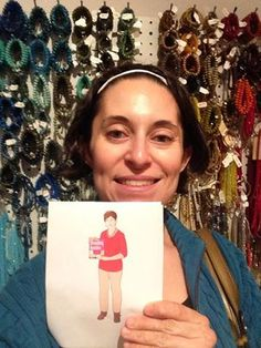 Flat Cathy made it to the Bead Store Abeille, in Brookline, MA!