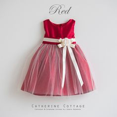 ベビードレス 赤 レッド