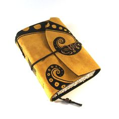 Golden Swirl - leather notebook