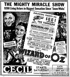 A marvelous screen show! Wizard of Oz in theaters (1939) - Click ...