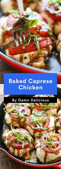 Chicken Thigh Recipes: Baked Caprese Chicken