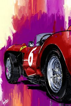 Time Extended: Ferrari 250 Testa Rossa - Andres Space - Draw to Drive Auto Poster, Car Posters, Cool Car Drawings, Chevy, Garage Art, Motorcycle Art, Automotive Art, Car Painting, Cool Paintings