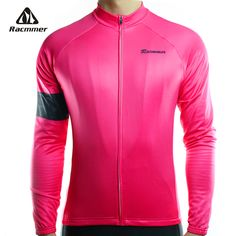 Racmmer 2018 Long Sleeve Cycling Jersey Mens Mtb Cycling Clothing Bicycle Ropa Maillot Ciclismo Sportwear Bike Clothes #CX-22