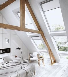 The loft consists of a string of spaces which have been custom-designed as a way to react to the customeru0027s requirements. Lofts often provide free space ... & homedesigning: u201c (via 25 Amazing Attic Bedrooms That You Would ...