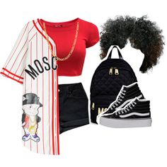Bad by kiaratee on Polyvore featuring polyvore, fashion, style, Moschino, Levi's, Vans and Fremada