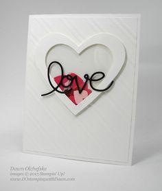Shaker heart Valentine card