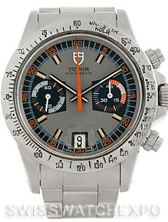 Tudor Monte Carlo Chronograph Steel Mens Vintage Watch 7159