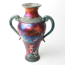 Two Handled Vase handmade by Florida artist, Adam Pennington – Available now at the Fusion Art Glass Online Store