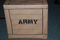 vbs boot camp decorations | neat idea for Army decor....made by our VBS director, Gray.