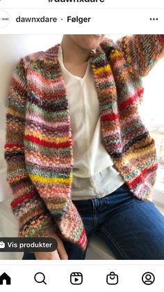 Knitting Stiches, Knitting Patterns, Crochet Cardigan, Knit Crochet, Crochet Clothes, Plaid Scarf, Ravelry, How To Wear, Fashion Trends