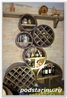 Винный подвал в ресторане баре фото (15) - Винный погреб,пивная мебель - Мебель под старину разная - Абажур, мебель под старину
