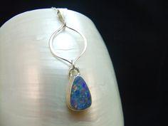 Australian Opal Handmade Silver Necklace £49.95