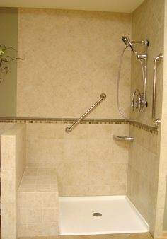 Moen grab bar with intergrated bath shelf. A great waterproof grab ...