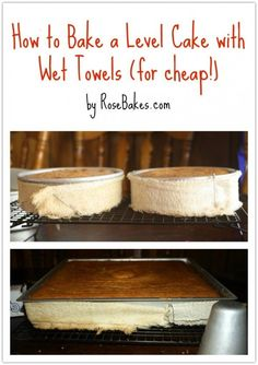 How to Bake a Level Cake for Cheap with Wet Towels!!!