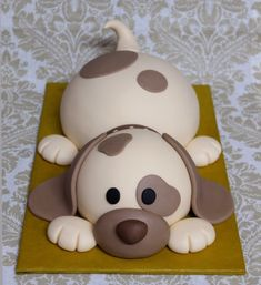 Dog Cakes, Cupcake Cakes, Fondant Cat, Puppy Birthday Cakes, Little Mermaid Cakes, Jungle Cake, Puppy Cake, Animal Cakes, Birthday Cake Decorating