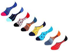 No Show Socks Value Pack by Unsimply Stitched fun colorful designs Combed Cotton Nylon Spandex Shark Socks, Mens Novelty Socks, No Show Socks, Nike Logo, Stitch, Logos, Collection, Style, Swag