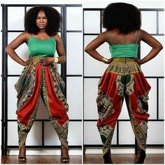 Loving this Dashiki harem pants by Rahyma Sleek~African fashion, Ankara, kitenge, African women dresses, African prints, Braids, Nigerian wedding, Ghanaian fashion, African wedding ~DKK