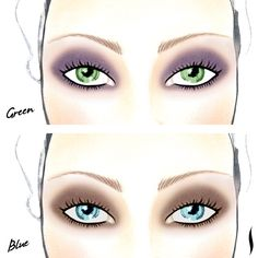 PRO Tip: Show your true colors. Enhance blue eyes with brown eye shadow and make green eyes pop with purple hues. #Sephora