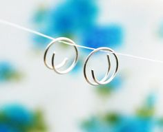 Tiny hoop earrings small gold hoops sterling silver by maylovely