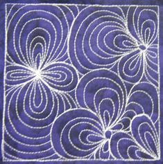 The Free Motion Quilting Project: Day 148 - Paisley Division Nice Variation on Paisley-has several focal points which gives a nice movement to the design. Quilting Stencils, Quilting Templates, Longarm Quilting, Quilting Tutorials, Quilting Projects, Quilting Ideas, Modern Quilting, Quilting Stitch Patterns, Machine Quilting Patterns