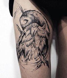 「owl tattoo design」的圖片搜尋結果